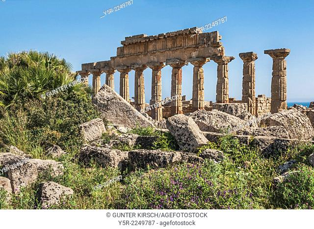 The Temple C is the oldest and largest temple of the Acropolis of Selinunte. The temple was built about 570 to 560 BC. The temple belongs to the archaeological...