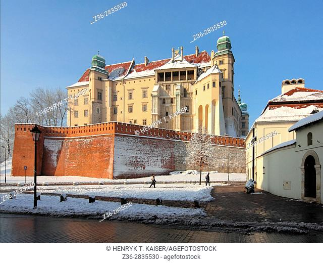 Royal Castle at Wawel Hill, Krakow, Poland