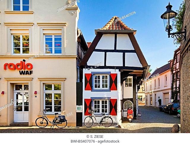 half-timbered house 'Pumperie' in the old city, Germany, North Rhine-Westphalia, Muensterland, Warendorf