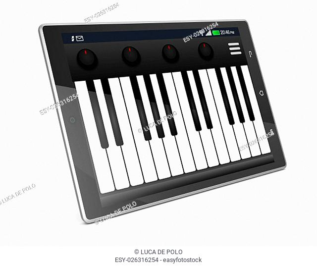 Keys musical instrument computer keyboard Stock Photos and Images