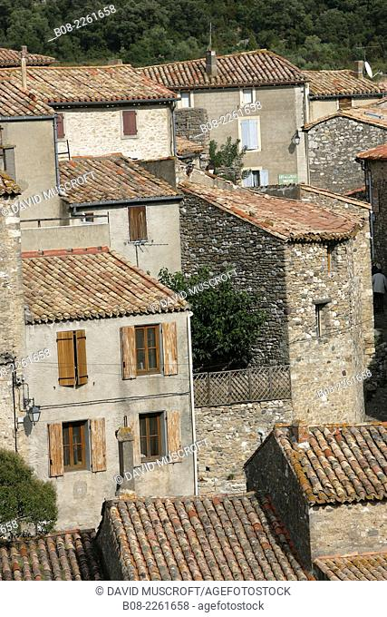 the mountain village of Minerve,Languedoc, southern France