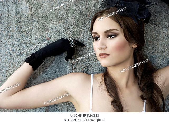 Beautiful young woman posing, Sweden