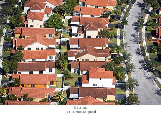 aerial of housing community