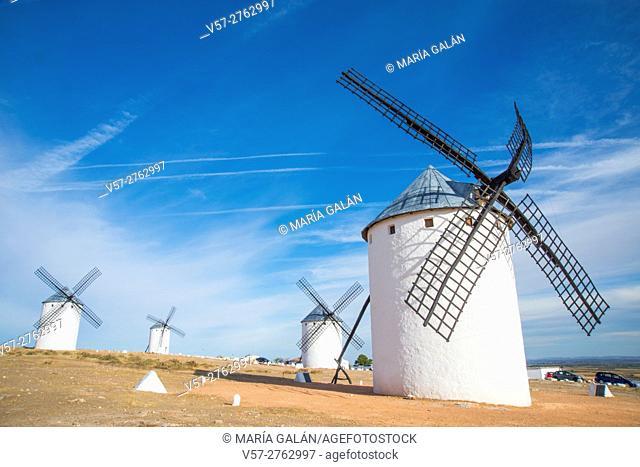 Four windmills. Campo de Criptana, Ciudad Real province, Castilla La Mancha, Spain