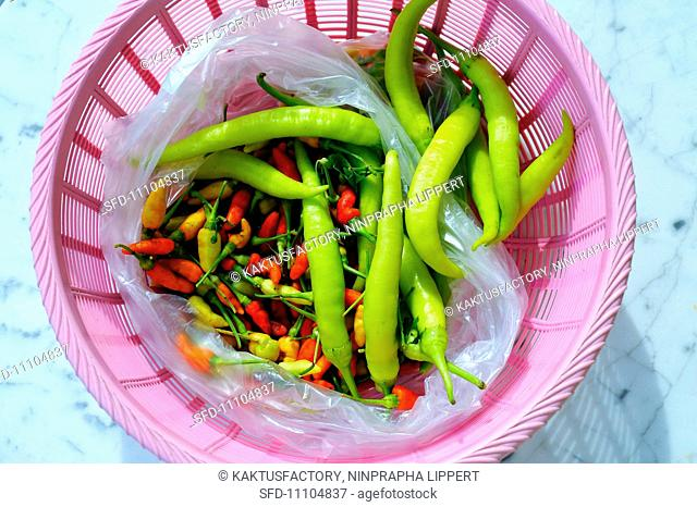 Chilli peppers and jalapeños