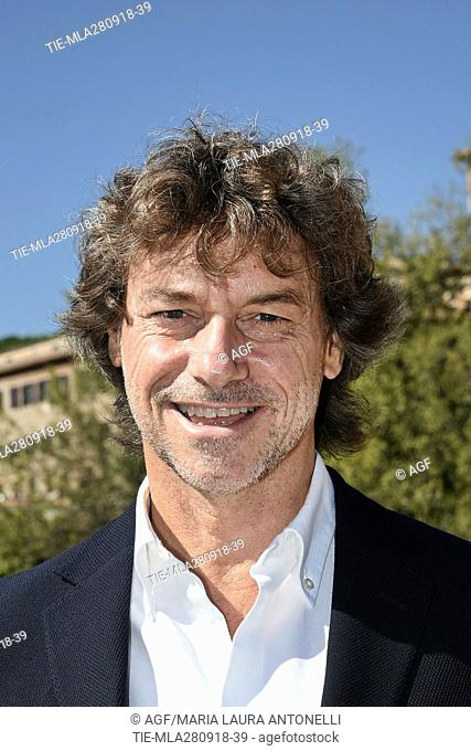 Alberto Angela during 'Ulisse: the pleasure of discovery' TV show photocall, Rome, Italy 23 Sept 2018