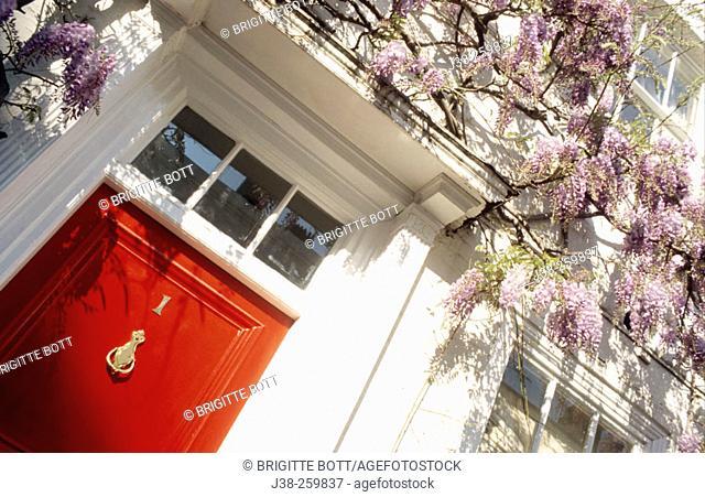 red door, Westminster, London, UK