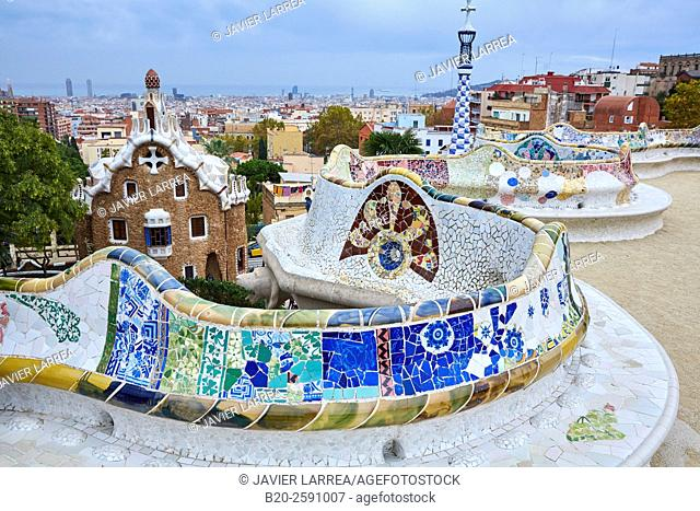 Park Güell by Antonio Gaudí. Barcelona. Catalonia. Spain