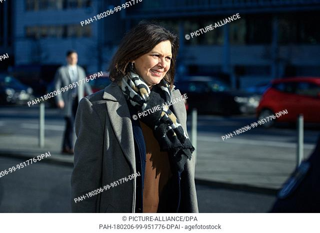 Ilse Aigner of the Christian Social Union (CSU), Bavarian State Minister for Economy, Media, Energy and Technology, arrives at the coalition negotiations of the...