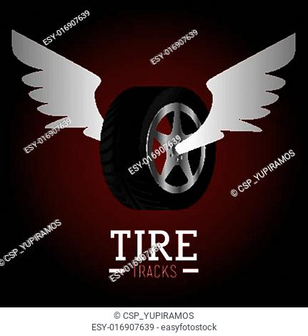 Tire design, vector illustration