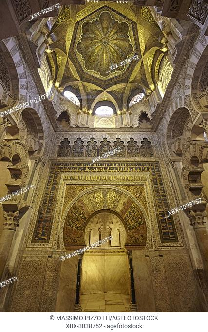"""Mihrab in the Mosqueâ. """"Cathedral of Córdoba, Andalusia, Spain"""
