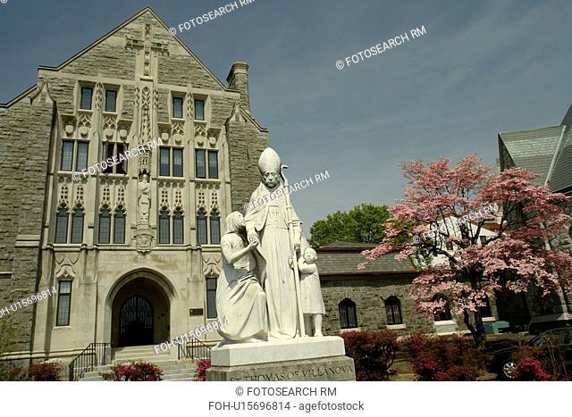 Villanova, PA, Pennsylvania, Villanova University, St. Thomas of Villanova Church, St. Thomas statue