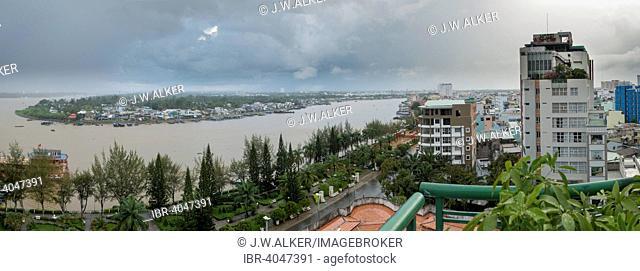 Cityscape, Mekong, Mekong Delta, Can Tho, South Vietnam, Vietnam