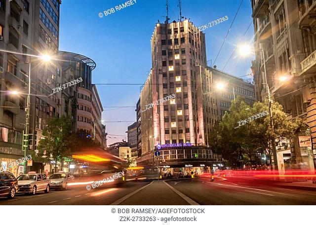 Long exposure street photography in Belgrade
