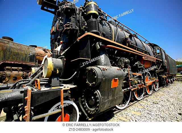 Steam engine at railway museum Turkey