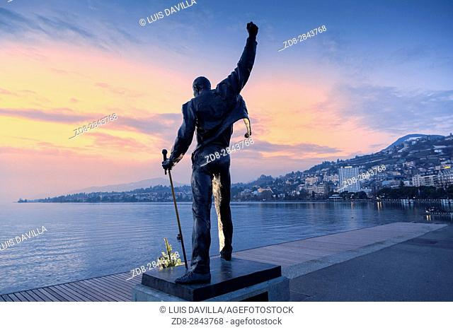 Freddie Mercury Monument in Montreux, Switzerland