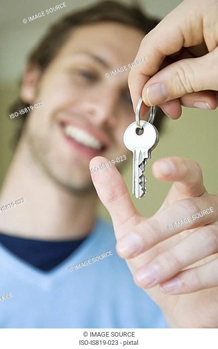Man taking keys