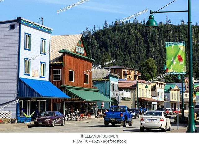 Historic Wrangell, outback pioneer port and fishing community, gateway to Stikine River, Inside Passage, Southeast Alaska, United States of America