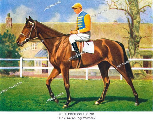 Kellsboro' Jack, Jockey: D. Morgan', 1939. Artist: Unknown