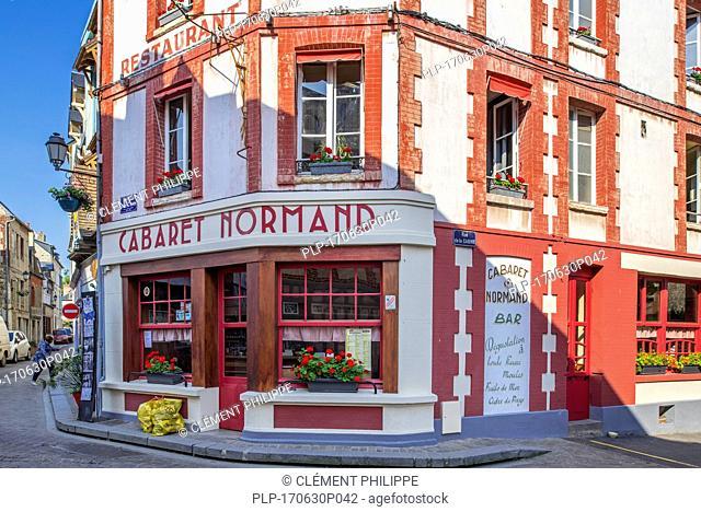 Restaurant Cabaret Normand at the village Villerville, Calvados, Normandy, France