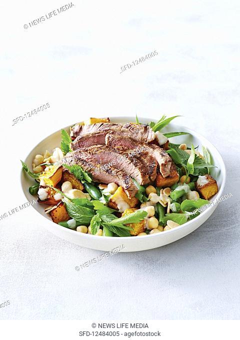 Spiced beef salad