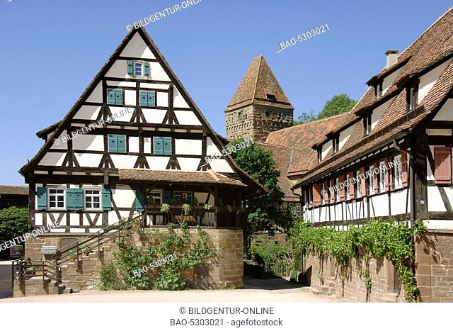 Houses at the court of Monastery of Maulbronn, Baden-Wuerttemberg, Germany