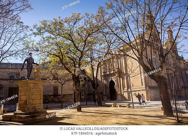 Plaza de Vázquez Molina and Church of Santa María de los Reales Alcázares, 13th - 19th century, Úbeda, Jaén province, Andalusia, Spain, Europe