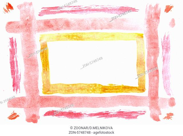 abstract watercolor frame