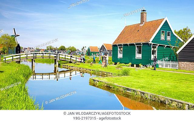 Traditional architecture in Zaanse Schans - Holland Netherlands