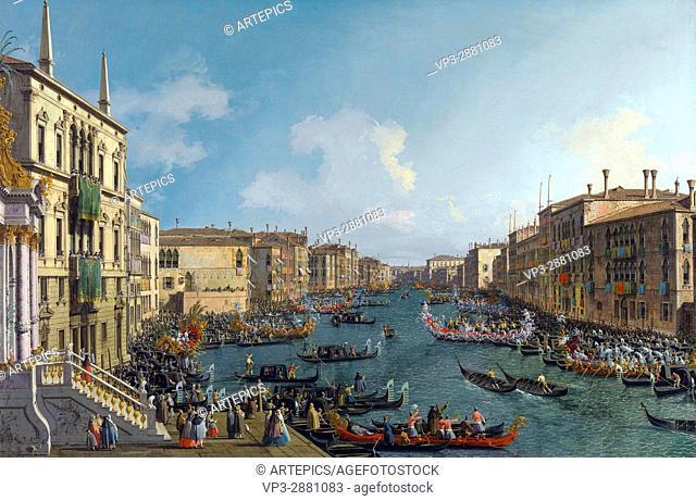 Canaletto . Canal Grande A regatta. National Gallery London