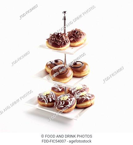 Doughnuts on a Cake Stand - cut out