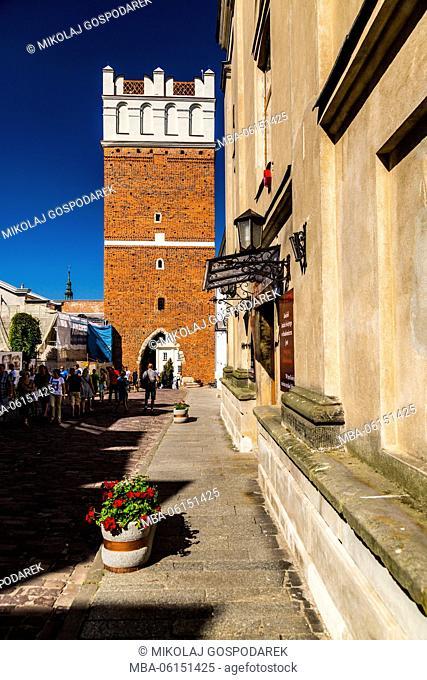 Poland, Swietokrzyskie, Sandomierz, Opatowska Gate
