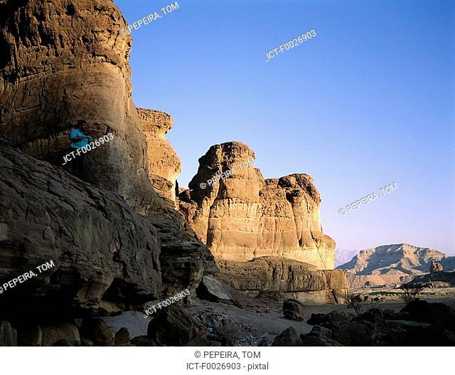 Israel, Eilat vicinity, Negev desert, Timna park, Salomon's pillars
