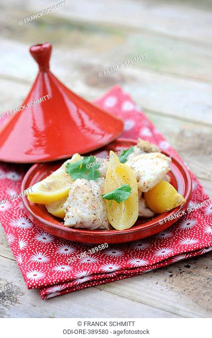 Fish and lemon tagine