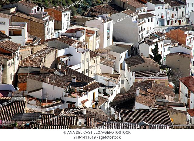 Chulilla village from above,Los Serranos county, Valencia province, Spain