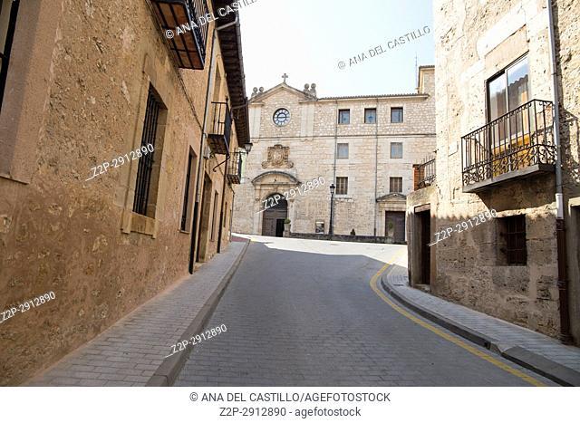 Old seminary in Burgo de Osma village Soria province Castile Leon Spain on June 11, 2017