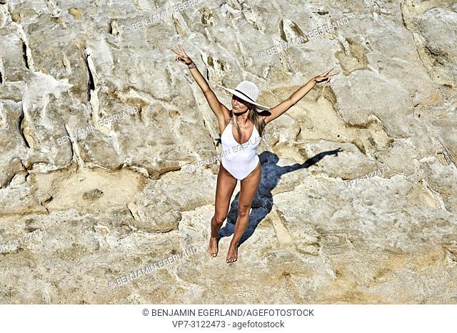 Young woman. Chersonissos, Crete, Greece