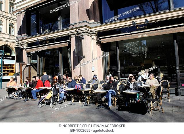 Cafe Strindberg, Esplanade, Helsinki, Finland, Europe