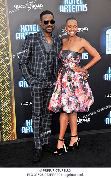 "Sterling K. Brown, Ryan Michelle Bathe at the """"Hotel Artemis"""" Los Angeles Premiere held at the Bruin Theater in Los Angeles, CA on Saturday, May 19, 2018"