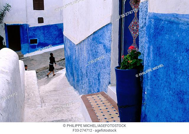 In the Kasbah of the Oudayas. Rabat. Morocco