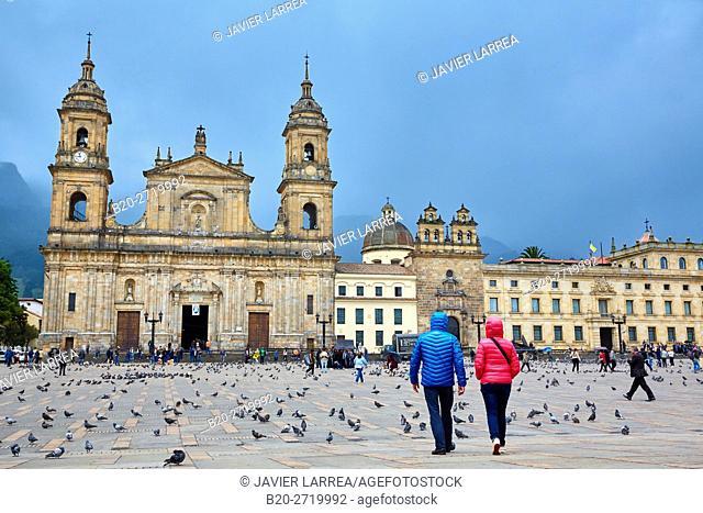 Catedral Primada de Colombia, Plaza de Bolivar, Bogota, Cundinamarca, Colombia, South America