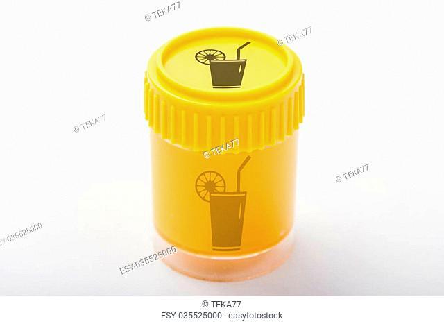 orange colored pot with a lemonade symbol