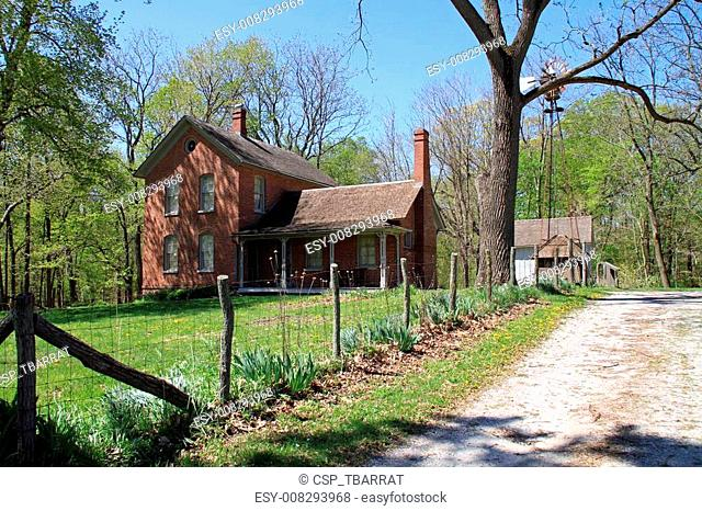 Restored farmhouse in the midwest