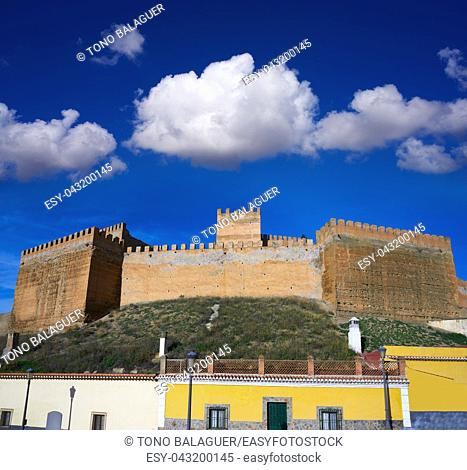 Guadix village Alcazaba fortress in Granada of Andalusia Spain