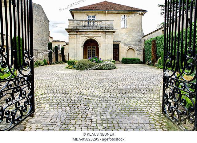 Couvent des Jacobins, vineyard, Saint-Émilion, Département Gironde, region Aquitaine, France