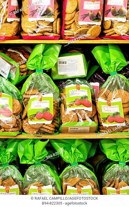 Cookies in a supermarket, France