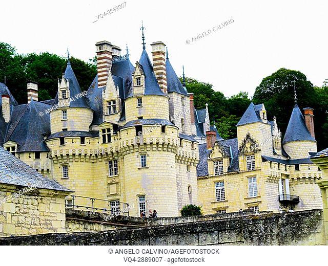 Rigny-Usse, Castle, Chateau de Usse, Ussè Castle, Indre-et-Loire, Pays de la Loire, Loire Valley, UNESCO World Heritage Site, France.