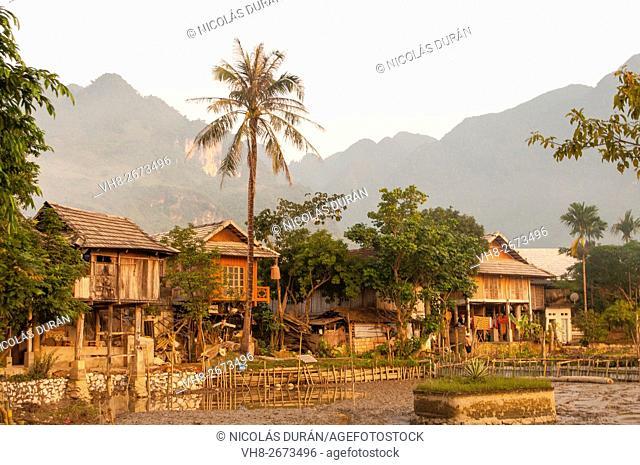 Mai Chau, little village near Laos border. Vietnam