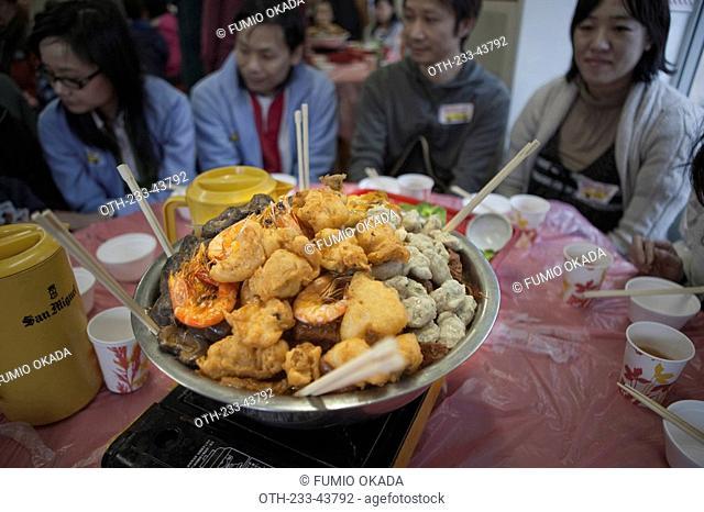Chinese bon meal, Hong Kong