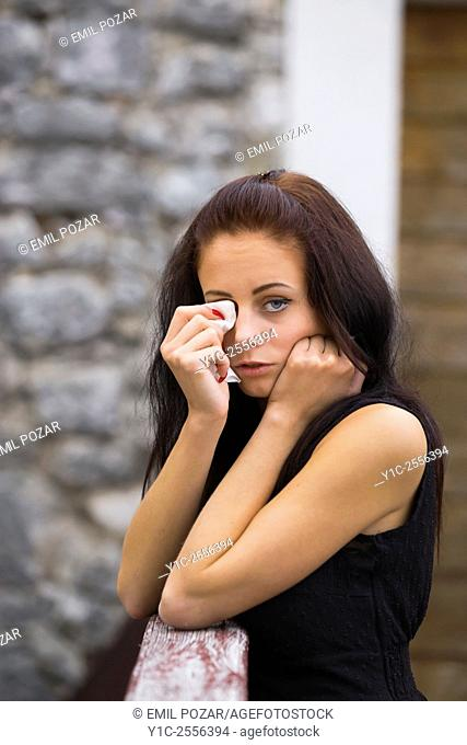 Stock Photo - Crying teenager
